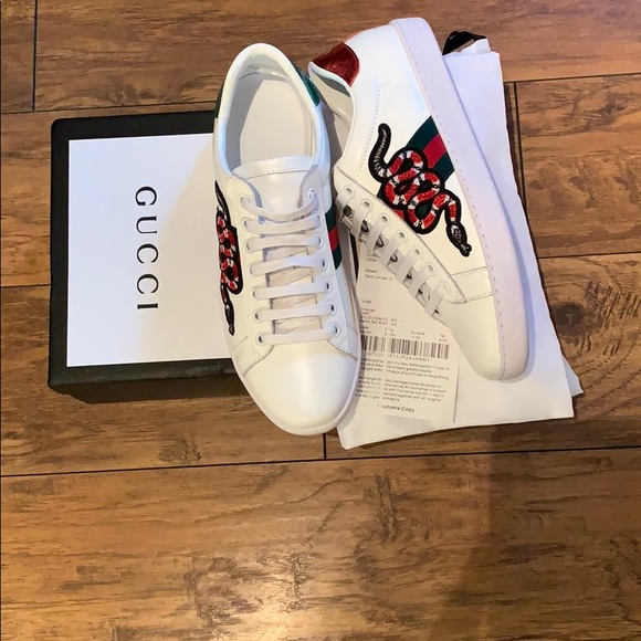 ab8629319 Gucci Shoes | New Original Sneakers Of Snake Size 40 | Poshmark